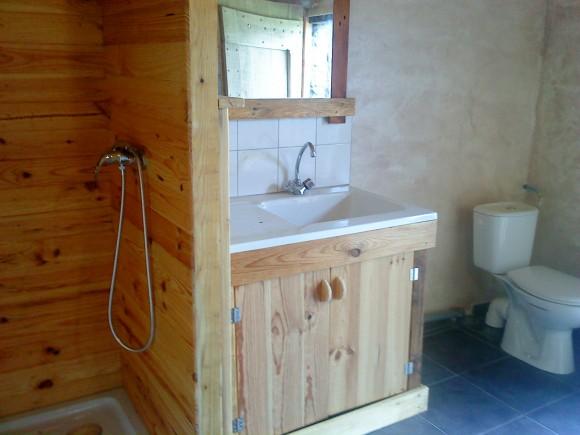 salle de bain du campement médiéval