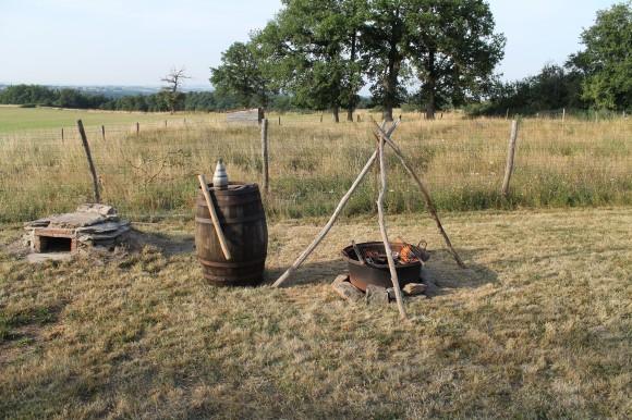 cuisine médiévale gîte de Lacroux