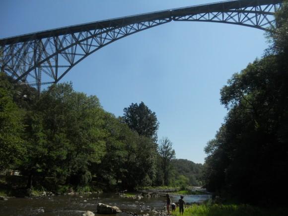 Viaduc du Viaur rive Tarn