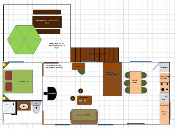 Plan gite 1er étage